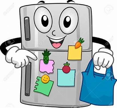 Refrigerator Notes Clipart Sticky Filled Mascot Refrigerators