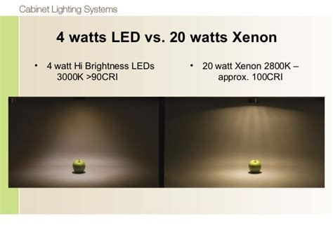 xenon vs led lights cabinet cabinets matttroy