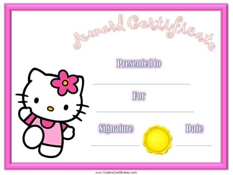 Free Printable Childrens Certificates Templates by Certificates For Free And Customizable Instant