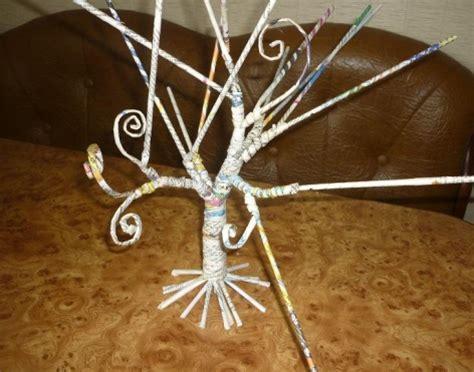 diy decorative tree   newspaper