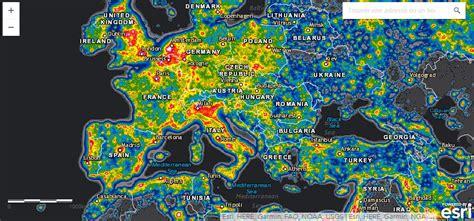 Carte Pollution Lumineuse Info by Carte Mondiale De La Pollution Lumineuse En 3d Griters