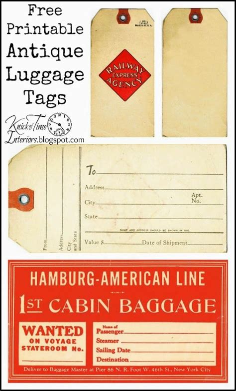hometalk  printable antique style gift tags