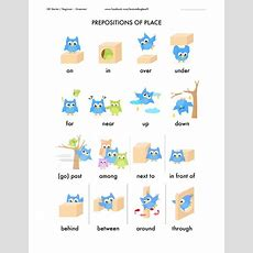 Prepositions Of Place (theory