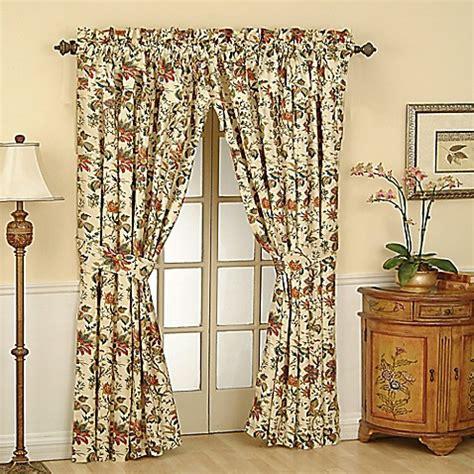 waverly felicite   rod pocket window curtain panel bed bath