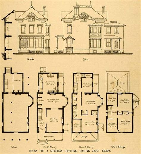 vintage victorian house plans 1879 print victorian house