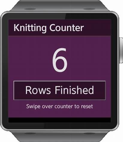 Knitting Counter Row App Gear Puppy Samsung
