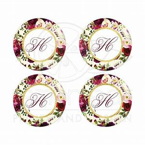 monogram envelope seals beautiful burgundy watercolor With kitchen colors with white cabinets with wedding envelope stickers