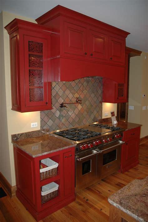 hand  red kitchen  custom corners llc custommadecom