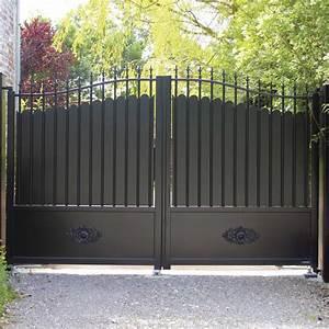 Portail Electrique Battant : portail battant sur mesure fabrication portail lectrique ~ Melissatoandfro.com Idées de Décoration