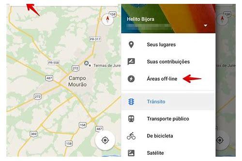 mapa para baixar off line para iphone