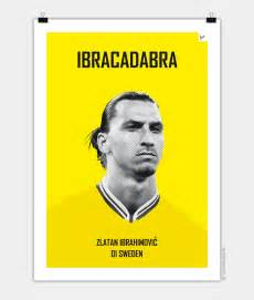 themed posters my soccer legends zlatan chungkong