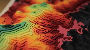 SAMAPS Topographical 3D Maps in Coloured Paper by Sam ...