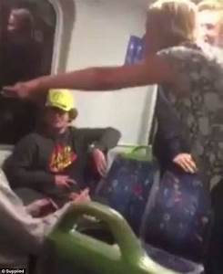 Female Train Passenger Launches Foul
