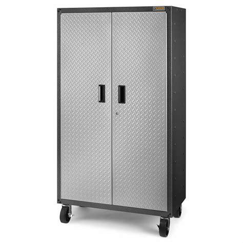 Garage Storage On Wheels by Metal Storage Cabinet For Garage Casters Wheel Heavy Duty