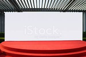 Red Carpet Stage and Blank Back Wall stock photos