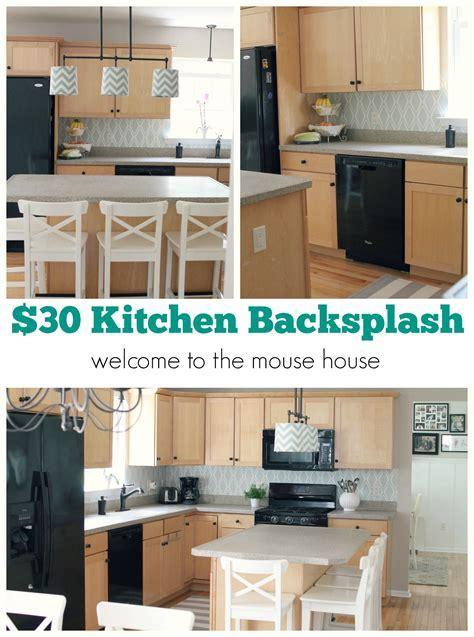 Easy Kitchen Backsplash: $30 Target Wallpaper