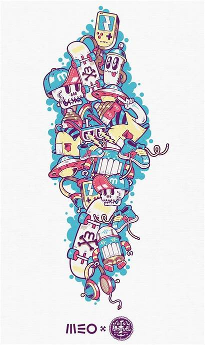 Graffiti Behance Doodles Graphic Meo Doodle Drawing