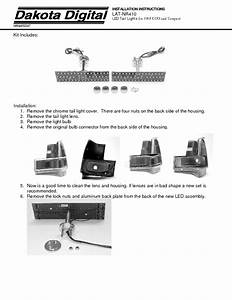 Led Tail Lights Lat-nr410 Manuals