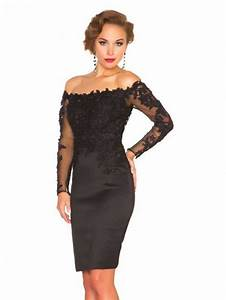 aliexpresscom buy black lace long sleeve short evening With robe de ceremonie courte