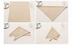 Serviette De Table En Tissu : pliage serviette facile pour donner sa table une touche de d co personnalis e ~ Teatrodelosmanantiales.com Idées de Décoration