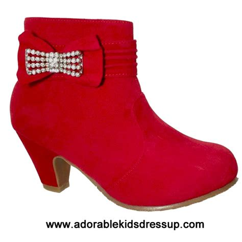fashion booties for 9 year olds; kids high heel booties ...
