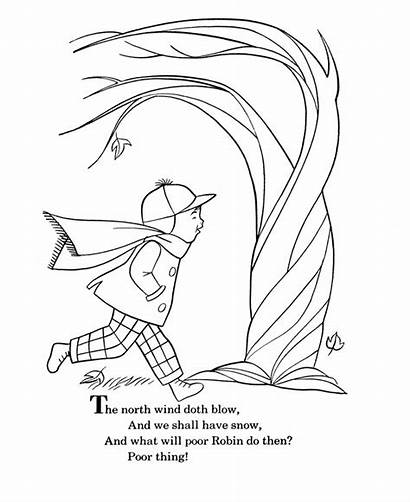 Wind Coloring Goose Rhymes Mother Pages Nursery