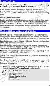 Sercomm Dbc831 Wireless Hd Doorbell Camera Doorbell Hd Wi