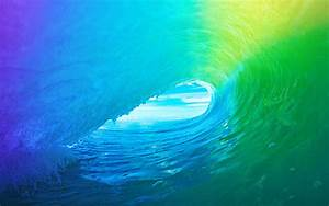 Download The Colored Wave Default iOS 9 Wallpaper ...