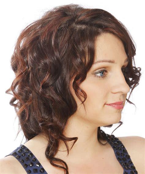 medium curly formal hairstyle dark brunette chocolate