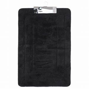 tapis de salle de bain 60x90 cm noir With tapis salle de bain noir