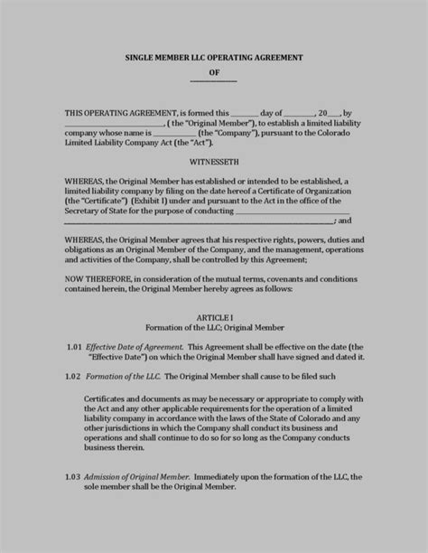 Llc Operating Agreement For Oklahoma