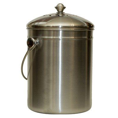 kitchen compost container indoor composter stainless steel compost bin with stainless steel handle what to do with food scraps nancy on the home front
