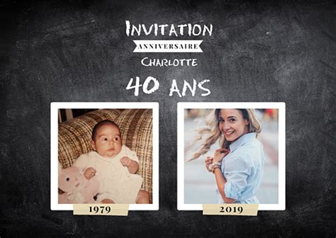 Carte D'invitation Anniversaire