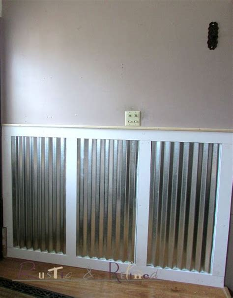 Building Wainscoting Panels by Adding Galvanized Tin As Wainscoting Ideas For The House