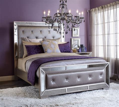 Purple And White Bedroom Decor Ideas by Regal Retreat Click To Get The Look 2015