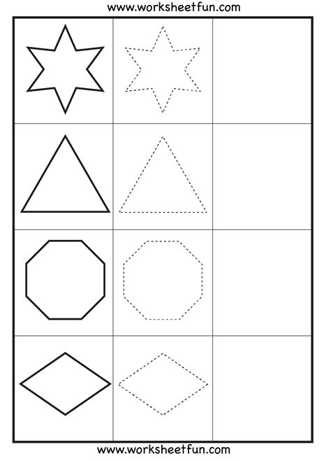 Pre K Tracing Shapes Worksheets  Trace And Count Diamond Shapes Shapenumber Tracing Pre K