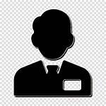 Icon Salesman Clerk Tie Clipart Silhouette Transparent