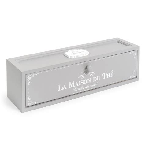 bo 238 te 224 th 233 grise 10 x 37 cm maison du the maisons du monde