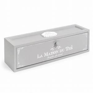 Maison Du Monde Mondeville : maison du the tea box in grey x cm with maison 37 ~ Dailycaller-alerts.com Idées de Décoration