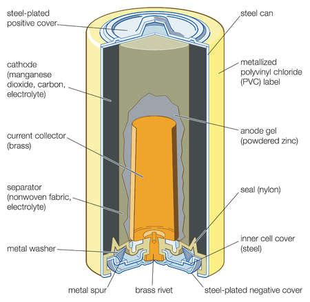 Battery Cell Diagram by Voltage What Is The Outer Casing Of Alkaline Battery