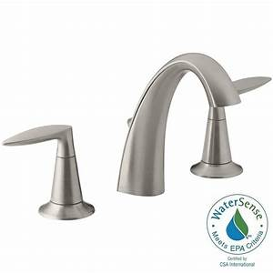 Kohler alteo 8 in widespread 2 handle water saving for Water saving bathroom faucets