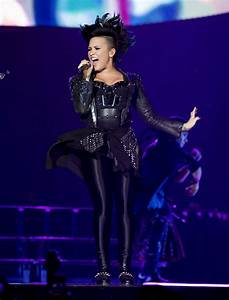 DEMI LOVATO Performs at Neon Lights World Tour in Newark ...