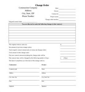 Construction Change Order Form Free Download