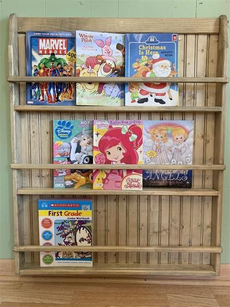 plate rack wall hanging bookshelf charging station plate display children book shelf