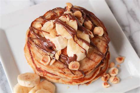 wheat banana nutella pancakes celebrating sweets