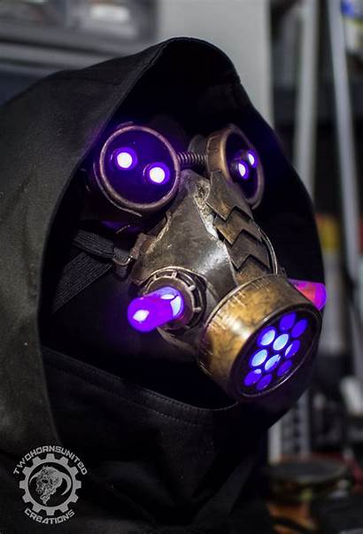 Steampunk Goggles Mask Led Dystopian Armor Plague