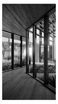Desert Villa Interior BW   Visualizing Architecture