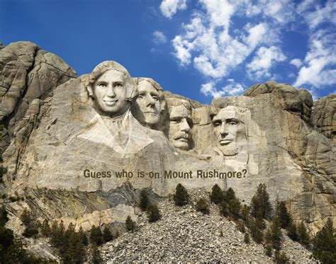 mount rushmore   face  hole effect