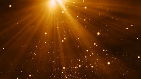 Bright Golden by 4k Gold Particles Light Animation Background