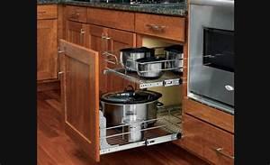 Armoire Rangement Cuisine : panier coulissant double en fil chrom pour armoires de cuisine rangement pour armoires de ~ Teatrodelosmanantiales.com Idées de Décoration